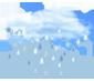 хмарно, невеликий дощ