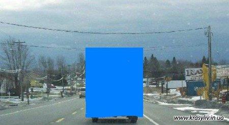 Вынимание на зимней дороге